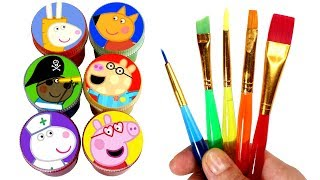 Peppa Pig & Friends Painting Learn Colors Peppa Fancy Dress Surprise Toys Fun Learning for Kids