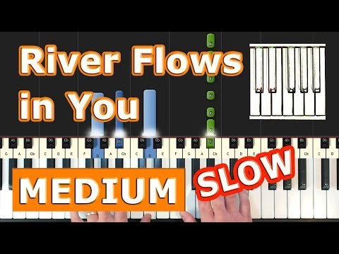 Yiruma - River Flows In You - Piano Tutorial Easy SLOW - How To Play (Synthesia)
