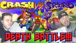 THE PS1 RIVALRY ENDS NOW!!! Crash Bandicoot VS Spyro Death Battle Reaction