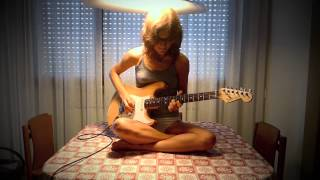 Girl playing Highway Star Guitar Solo