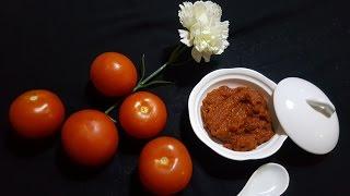 اسهل طريقة لعمل الطماطم المركزة( مطيشة الحك) بجودة عاااالية وبكمية وفيرة🌞من عالم شمش