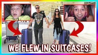 WE FLEW TO CA IN SUITCASES! | We Are The Davises