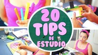 20 TIPS/HACKS DE ESTUDIO Y ORGANIZACIÓN | REGRESO A CLASES