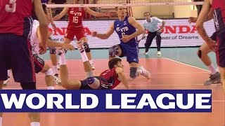 FIVB World League Russell to the Rescue   Great dig from Aaron Russell