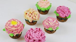 Cupcake Simple Decoration with buttercream - نحوه تزیین کاپ کیک بشکل ساده