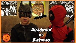 Kid Deadpool vs Batman in Real Life Halloween Costumes | New Little Superheroes | SuperHero Kids