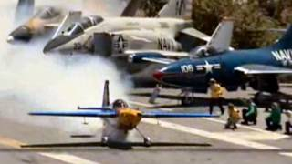 Take Off From USS Midway - Red Bull Air Race Pilot Kirby Chambliss