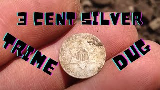 Skidded Cellar Hole Silver - XP DEUS - Three 3 Cent Silver TRIME Dug- Metal Detecting