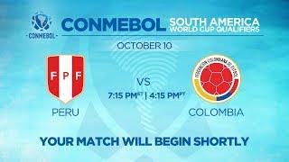 LIVE CONMEBOL WCQ: Peru vs. Colombia