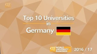 Top 10 Universities in Germany 2016/17