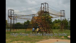 Adventure Park SetUp at Madventure Camps, Sohna, Haryana. Rope Course Manufacturer India