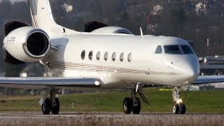 Gulfstream Aerospace G550 P4-PPP Take Off at Bern Airport