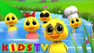 Five Little Ducks | Kindergarten Nursery Rhymes For Children By Kids Tv
