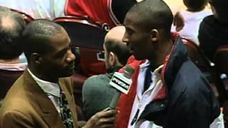 NBA Vault: Highschool Kobe Bryant Gets Interviewed At Sixers Game