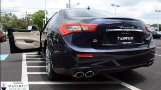 2016 Maserati Ghibli Q4: Revving, Sport Mode Demonstration, and Overview