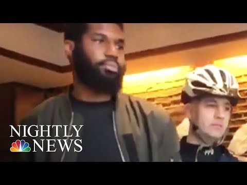 Xxx Mp4 Outrage After Two Black Men Arrested At Philadelphia Starbucks NBC Nightly News 3gp Sex