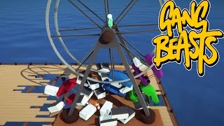 Gang Beasts - Wheel of Death [Father Vs. Son]