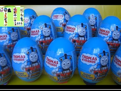 12 Thomas egg surprise with cool figures inside