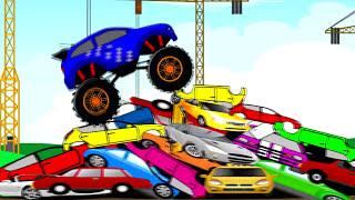 Monster Truck Tuning Stunt _ Auta i Animacja