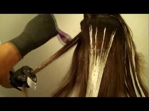 Омбре на короткие волосы видео мастер класс