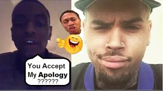 Soulja Boy Apologizing to Chris Brown Texting him Copping Pleas + Shiggy
