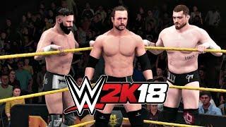 WWE 2K18 Gameplay   The Undisputed Era vs SAnitY 6-Man NXT Tag Match