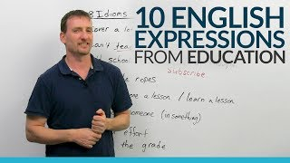 10 common English Idioms & Expressions from Education