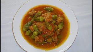 خورش بامیه با گوشت Khoresh bamieh ba goosht