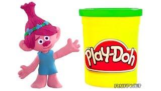 TROLLS Poppy toy for children Kids Pretend Play Family Fun Play Doh Stop Motion video