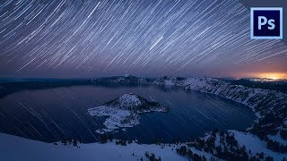 How to create STAR TRAILS in PHOTOSHOP // Quickest WAY!