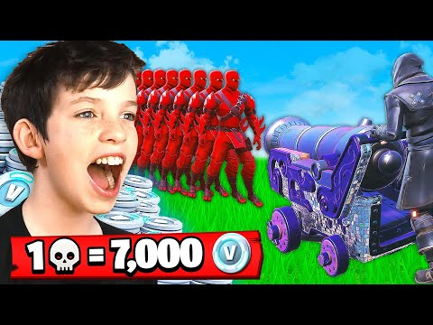 1 Elimination 7 000 free V Bucks With My Little Brother Fortnite Battle Royale