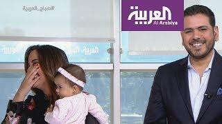 مذيع ومذيعة صباح العربية في نوبة ضحك هستيرية