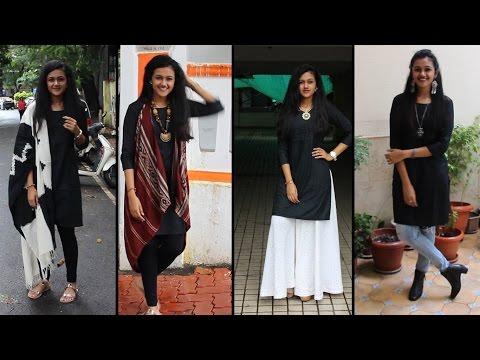 How to style: Black Kurta | Disha Gangar