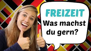 GERMAN LESSON 50: Was machst du in deiner Freizeit? // German freetime Vocabulary