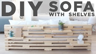 DIY Sofa with Shelves | A 3-Tool Project