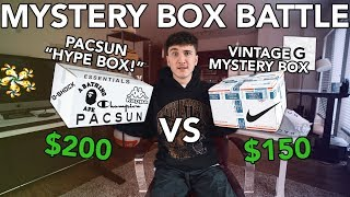 "MYSTERY BOX BATTLE! $200 Pacsun ""HypeBox"" vs Vintage Box! *BUDGET"