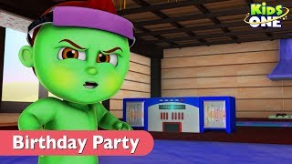 Sleepy Greeny Kiddo   BIRTHDAY PARTY Goes Wrong in Real Life For Kids - KidsOne