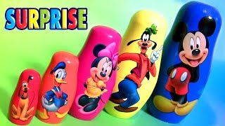 Mickey Mouse Clubhouse Stacking Cups Surprise Jelly Beans PJ MASKS  Paw Patrol Nesting Toys Surprise