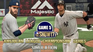 MLB The Show 17   Yankees vs Astros American League Championship Series Game 5 Simulation