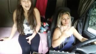 Caminhoneira Adriana viaja com seu bb. Mães  guerreiras