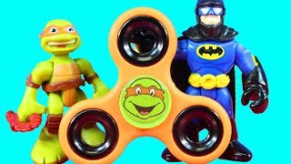 Fidget Spinner Teenage Mutant Ninja Turtles Imaginext & TMNT Rooftop Ruckus Battle Pack Toy Review