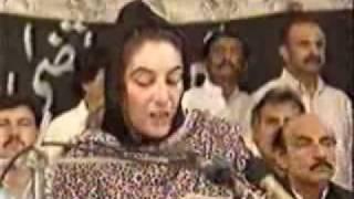 Benazir Bhutto Addresses at Murtaza Bhutto's Murder.flv