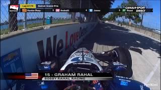 IndyCar Series Detroit 2018 Race1 Rahal Big Crash