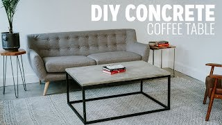 DIY Concrete Coffee Table   Beginner Mistakes Video