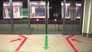 Train platform screen doors in use around the world