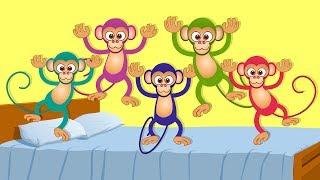 Kids TV Nursery Rhymes - Five Little Monkeys | kids songs and nursery rhymes for children