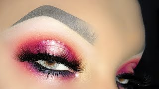 GRWM Super Sexy Pink Halo with Glitter ft. Mulac Womanly e Ciglia Finte