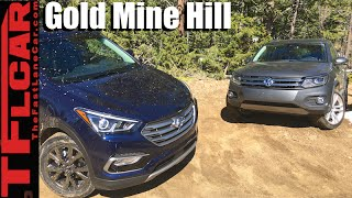 2016 Hyundai Santa Fe vs VW Tiguan take on the Gold Mine Hill Off-Road Review