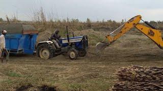 Two Tractor Fail to Helf Loaded Swaraj 260 Kuntal Reta trooley Then JCB Pull That Tractor