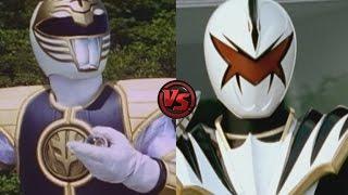 Mighty Morphin White Ranger vs. Dino Thunder White Ranger - Clash of Power Rangers - Who would win?